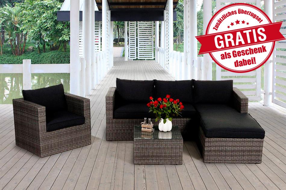 sitzlounge rattan latest garten sitzlounge loungembel. Black Bedroom Furniture Sets. Home Design Ideas